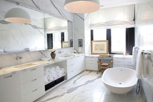 Trang trí phòng tắm với đá cẩm thạch